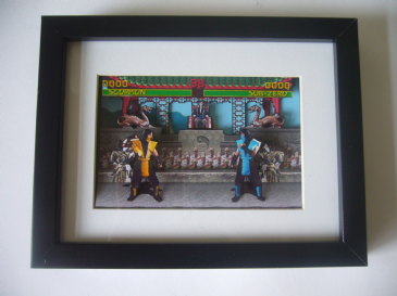 Mortal Kombat 3D Diorama Shadow Box